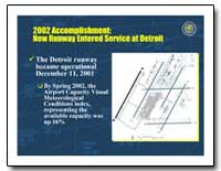 2002 Accomplishments : New Runway Entere... by Federal Aviation Administration