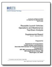 Reusable Launch Vehicles Operations and ... by Mendonca, Janice