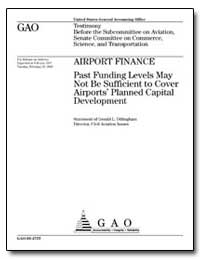 Airport Finance : Past Funding Levels Ma... by Dillingham, Gerald L.