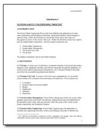 System Safety Engineering Process by Federal Aviation Administration