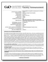Vacancy Announcement by Federal Depository Library