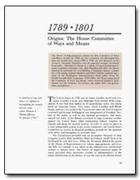 Origins : The House Committee of Ways an... by Fitzsimons, Thomas