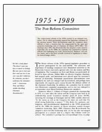 The Post - Reform Committee by Ullman, Albert C.