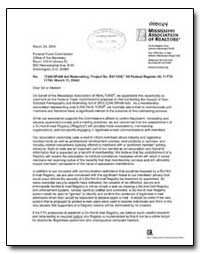 Can-Spam Act Rulemaking, Project No. R41... by Brunner, R. Scott, C. A. E.