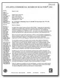 Atlanta Commercial Board of Realtors, In... by Gore, Clark