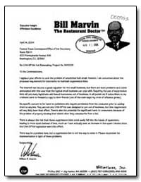 Re: Can-Spam Act Rulemaking, Project No.... by Marvin, William R.