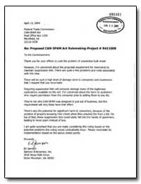 Re: Proposed Can-Spam Act Rulemaking-Pro... by Jamison, Ed