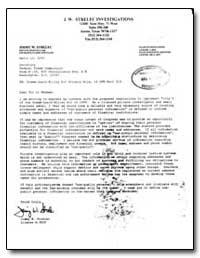 J. W. Strelec Investigations by Strelec, Jimmy W.