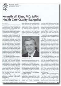 Health Care Quality by Kizer, Kenneth W.