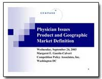 Physician Issues Product and Geographic ... by Guerin-Calvert, Margaret E.