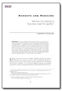 Markets and Medicine Barriers to Creatin... by Casalino, Lawrence P.