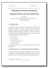 Presentation to Ftc /Doj Joint Hearing C... by Purcell, Declan