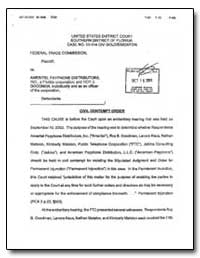 United States District Court Southern Di... by Federal Trade Commission