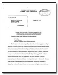 Complaint Counsel's Revised Witness List... by Abrahamsen, Dana