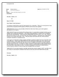 Subject: Contact Lens Rule Project No. R... by Spittler, Michelle L.