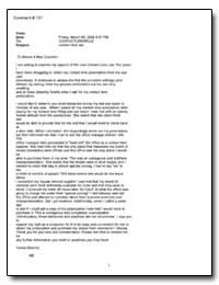 Subject: Contact Lens Law by Deerinq, Tamra