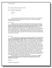 Re: Contact Lens Rule, Project # R411002 by Kissling, Charles W.