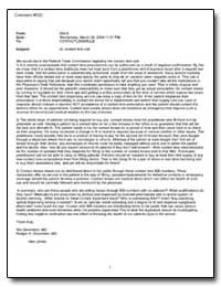 Subject: Re: Contact Lens Rule by Federal Trade Commission