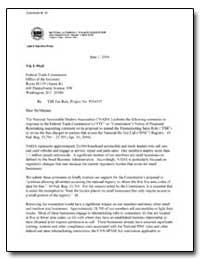 Re: Tsr Fee Rule, Project No. P034305 by Metrey, Paul D.