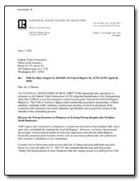 Re: Tsr Fee Rule, Project No. P034305, 6... by Mcdonald, Walter T.