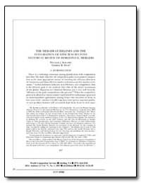 The Merger Guidelines and the Integratio... by Kolasky, William J.