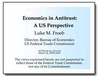 Economics in Antitrust : Economics in An... by Froeb, Luke M.