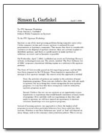 Public Comments on Spyware by Garfinkel, Simson L.