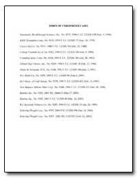 Index of Unreported Cases by Chappell, D. Michael