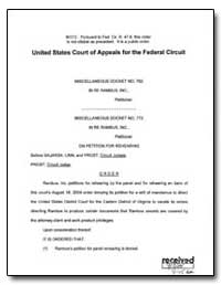 United States Court of Appeals for the F... by Prost, Sharon