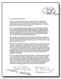 To the Federal Trade Commission: As a Mu... by