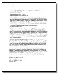 Statement to the Federal Trade Commissio... by