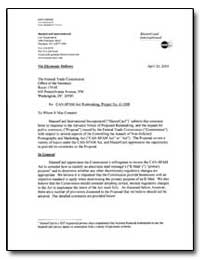 Re: Can-Spam Act Rulemaking. Project No,... by Golinsky, Jodi