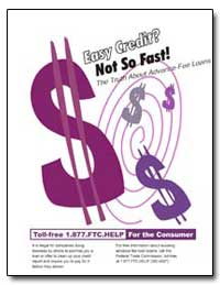 Easy Credit Not so Fast! by