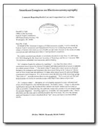 American Congress on Electroneuromyograp... by Woodruff, Lynda D.