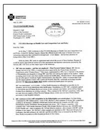 Ftc Idoj Hearings on Health Care and Com... by Clark, Donald S.