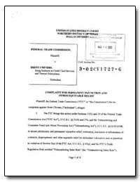 Complaint for Permanent Injunction and O... by Elbein, Bradley M.