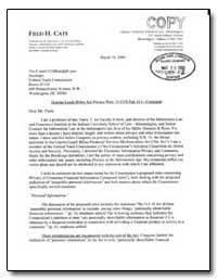 Gramrn-Leach-Biley Act Privacy Rule, 16 ... by Cate, Fred H.