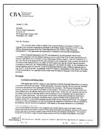 This Comment Letter Is Filed on Behalf o... by Sullivan, Marcia Z.