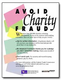 Avoid Charity Fraud by