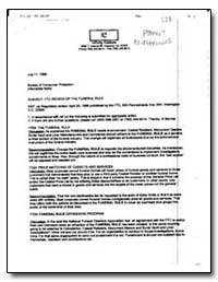 Subject: Ftc Review of the Funeral Rule by