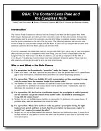 Q&A: The Contact Lens Rule and the Eyegl... by