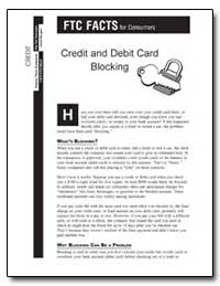 Ftc Facts for Consumers Credit and Debit... by