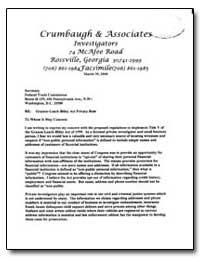Crumbaugh and Associates by Crumbaugh, Barbara M.