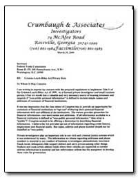 Crumbaugh and Associates by Crumbaugh, C. F.