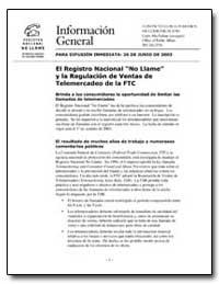 El Registro Nacional No Llame Y la Regul... by Charter, Janice L.