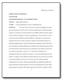 Federal Trade Commission 16 Cfr Part 600... by