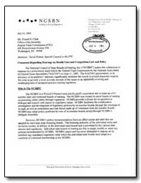 Comments Regarding Hearings on Health Ca... by Dorsey, Donna M.