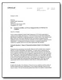 Re: Gramm-Leach-Biley Act Privacy Safegu... by Mcgee, Kate
