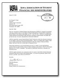 Dear Mr. Clark : The Iowa Association of... by Remmen, Anna Mae
