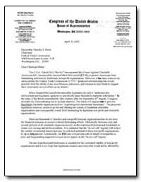 Dear Chairman Muris : The U. S. A. Patri... by Deutsch, Peter